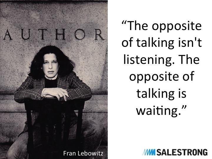 Listening sales people